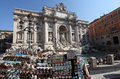 Trevi fountain in rome shop for various souvenirs the famous italy Stock Photography