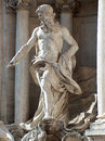 Trevi Fountain Statue - Rome, Italy Stock Image