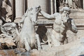 Trevi s fountain statue detail rome italy Royalty Free Stock Images
