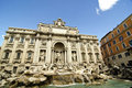 Trevi-springbrunn, Rome 库存图片