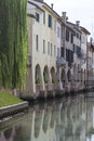 Treviso in veneto channels idyllic walkways and many bridges dominate the skyline of the venetian provincial capital Royalty Free Stock Photography