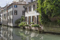 Treviso in veneto evocative channels idyllic walkways and many bridges dominate the skyline of the venetian provincial capital of Royalty Free Stock Photography