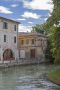 Treviso in veneto evocative channels idyllic walkways and many bridges dominate the skyline of the venetian provincial capital of Royalty Free Stock Photo