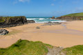 Trevone Bay beach North North Cornwall England UK near Padstow and Newquay Royalty Free Stock Photo