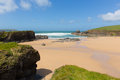 Trevone Bay North Cornwall England UK near Padstow and Newquay Royalty Free Stock Photo
