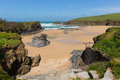 Trevone Bay North North Cornwall England UK near Padstow and Newquay Royalty Free Stock Photo