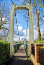 Trews weir suspension bridge the at exeter devon Stock Images