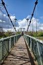 Trews weir suspension bridge the at exeter devon Royalty Free Stock Photo