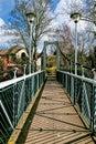 Trews weir suspension bridge the at exeter devon Stock Photography