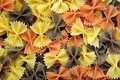 Tri color bow farfalle Stock Photo