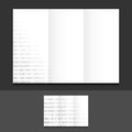 Tri fold binary illustration design graphics background Royalty Free Stock Images