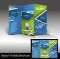 Tri fold call cente brochure center mock up design Royalty Free Stock Photos