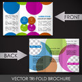 Tri fold corporate business store brochure design for print presentation or publishing Royalty Free Stock Image