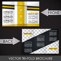 Tri fold corporate business store brochure design for print presentation or publishing Royalty Free Stock Photography