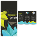 Tri-Fold design template Stock Photography