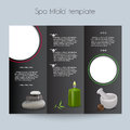 Tri fold spa brochure mock up booklet layout editable design template Royalty Free Stock Photography