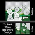 Tri fold wave brochure vector illustration Stock Photo