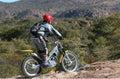 Trials bike rider Stock Image