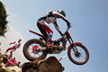 Trials rider Royalty Free Stock Image