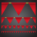 Triangle celebration flags Royalty Free Stock Image