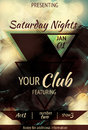 Triangle design night club flyer retro abstract light effect Royalty Free Stock Image