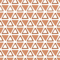 Triangle design template in caramel brown colors. Seamless pattern with fabric texture.