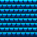 Triangle effect blue seamless pattern