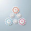 Triangle gears infographic design colorful on the grey background eps file Stock Photo