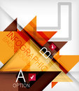 Triangle geometric shape infographic background Stock Photo