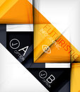 Triangle geometric shape infographic background Stock Image