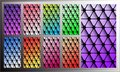Triangle gradient wallpaper for smartphone screen