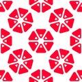 Triangle grapefruit seamless pattern