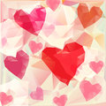 Triangle hearts background vector illustration of Royalty Free Stock Photo