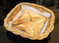 Triangle hot sandwiches Royalty Free Stock Photo