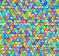 Triangle rainbow pattern. Seamless vector colorful background