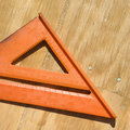 Triangle ruler. Stock Photo