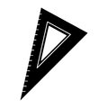 Triangle ruler utensil pictogram
