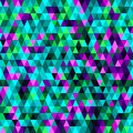 Triangle seamless background in purple pink green and turquoise color Royalty Free Stock Photo