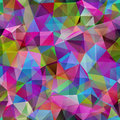 Triangle seamless pattern of geometric shapes colorful mosaic b banner Stock Image