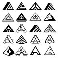 Triangle shapes for A letter logo and monogram
