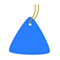 Triangle tag blue vector illustration Royalty Free Stock Image