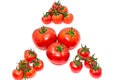 A triangle with tomatos Stock Photo