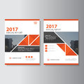 Triangle Vector annual report Leaflet Brochure Flyer template design, book cover layout design, Abstract presentation templates Royalty Free Stock Photo