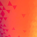 Triangles mosaic vector background orange and red Royalty Free Stock Photo