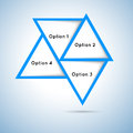 Triangles options Royalty Free Stock Photo