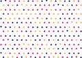 Seamless Geometric Blue, Pink and Yellow Triangles Pattern Background