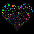 Triangles And Squares Fireworks Heart