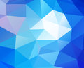 Triangular background blue and white Royalty Free Stock Image