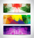 Triangular banners this is file of eps format Royalty Free Stock Photography