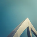 Triangular Bridge Detail Royalty Free Stock Photo